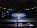 Warren Moon Autographed Houston Oilers 8x10 Inside Astrodome W/ HOF- JSA W Auth