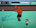 Mike Tyson Autographed *Blue 16x20 Nintendo Knock Out Photo- JSA Witnessed Auth