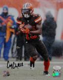 Corey Coleman Signed Cleveland Browns 8x10 Running In Snow PF Photo- JSA W Auth