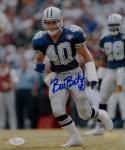 Bill Bates Autographed Dallas Cowboys 8x10 Vertical On Field Photo- JSA W Auth