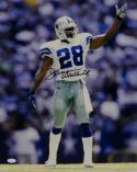 Darren Woodson Autographed *Blk Dallas Cowboys 16x20 Pointing Photo- JSA W Auth