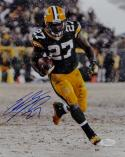 Eddie Lacy Autographed *Blue Green Bay Packers 8x10 In Snow Photo- JSA W Auth