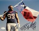 JJ Watt Autographed Houston Texans 8x10 w/ Texas Flag Photo- JSA W Auth