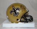 Mark Ingram Autographed New Orleans Saints Mini Helmet- JSA Witnessed Auth