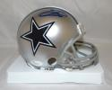 Emmitt Smith Autographed *Blue Dallas Cowboys Mini Helmet- JSA Witnessed Auth