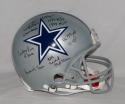 Tony Dorsett Autographed Dallas Cowboys F/S ProLine Helmet w/ 9 Insc- JSA W Auth