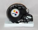 Jack Lambert Signed *Silver Pittsburgh Steelers Mini Helmet W/ HOF- JSA W Auth