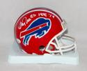 Andre Reed Autographed *White Buffalo Bills Red Mini Helmet W/ HOF- JSA W Auth