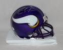 Randy Moss Autographed Minnesota Vikings TB Mini Helmet- JSA Witnessed Auth