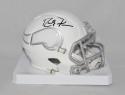 Randy Moss Autographed Minnesota Vikings ICE Mini Helmet- JSA Witnessed Auth