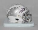 Greg Olsen Autographed Carolina Panthers ICE Speed Mini Helmet- JSA W Auth
