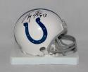T. Y. Hilton Autographed Indianapolis Colts Mini Helmet- JSA Witnessed Auth