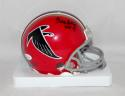 Claude Humphrey Signed *Black Atlanta Falcons Mini Helmet W/ HOF- JSA W Auth