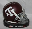 Von Miller Autographed Texas A&M Maroon Schutt Mini Helmet- JSA Witnessed Auth