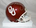 DeMarco Murray Autographed OU Sooners Riddell Mini Helmet- JSA Witnessed Auth