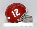 Joe Willie Namath Autographed Alabama Crimson Tide Mini Helmet- JSA W Auth