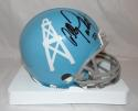 Allen Pinkett Autographed Houston Oilers TB Blue Mini Helmet- JSA Witnessed Auth