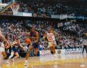 Danny Manning Signed Kansas 16x20 Against OU Photo W/ Nat'l Champs- JSA W Auth