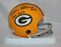 Dave Robinson Autographed Green Bay Packers Mini Helmet W/ HOF- JSA W Auth