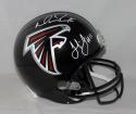 Julio Jones Matt Ryan Autographed Black Atlanta Falcons F/S Helmet- JSA W Auth