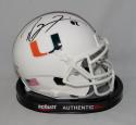 Ray Lewis Autographed Miami Hurricanes Schutt Mini Helmet- PSA/DNA Authenticated