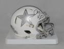 Cole Beasley Autographed Dallas Cowboys ICE Mini Helmet- Fanatics Authenticated