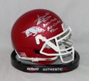 Steve Atwater Autographed Razorbacks Mini Helmet W/ All Century Team- JSA W Auth