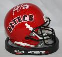 Marshall Faulk Autographed *White San Diego Aztecs 1993 Mini Helmet- JSA W Auth