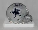 Dak Prescott Autographed *Black Dallas Cowboys Mini Helmet- JSA Witnessed Auth