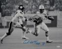 Earl Campbell Autographed Oilers 16x20 B&W Vs Steelers *Blue Photo- JSA W Auth