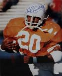 Earl Campbell Autographed Longhorns Up Close *Blue 16x20  Photo- JSA W Auth