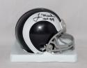 Tom Mack Autographed Rams HOF Mini Helmet- The Jersey Source Auth