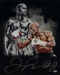 Floyd Mayweather Signed 16x20 Double Image White Gloves Photo- Beckett Auth