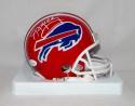 Jim Kelly Autographed *White Buffalo Bills Red 87-01 TB Mini Helmet- JSA W Auth