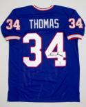 Thurman Thomas Signed / Autographed Blue Jersey- JSA W Authenticated Hof 07 INSC