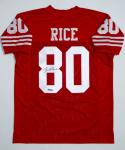 Jerry Rice Signed / Autographed Red Jersey- JSA W Authenticated