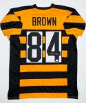 Antonio Brown Autographed *4 Black and Yellow Jersey - JSA W Authenticated