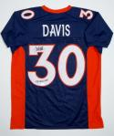 Terrell Davis Signed / Autographed Blue Jersey - JSA W Authenticated  SB MVP INS