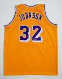 Magic Johnson Autographed Gold Jersey- Beckett Authentic Authenticated