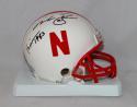 Mike Rozier Signed Nebraska Cornhuskers Riddell Mini Helmet - JSA W Auth Heisman