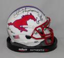 James / Dickerson / Mcilhenny Signed SMU Mustangs Schutt Mini Helmet JSA W Auth
