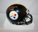 Joe Greene Autographed Pittsburgh Steelers Mini Helmet W/ HOF- JSA W Auth *Gold*