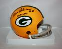 Dave Robinson Autographed Green Bay Packers 2 Bar Mini Helmet W/ HOF- JrsySource
