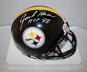 Jack Ham Autographed Pittsburgh Steelers Mini Helmet W/ HOF JSA W  *white*