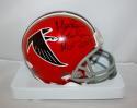 Morten Andersen Autographed Atlanta Falcons Mini Helmet TB Red W/ HOF- JSAW Auth
