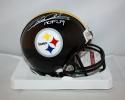 Rod Woodson Autographed Pittsburgh Steelers *WHT* Mini Helmet W/ HOF- JSA W Auth
