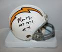 Irving Fryar Autographed New England Patriots 82-89 TB Mini Helmet- SGC Auth