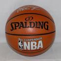 Magic Johnson Signed *Silver Official NBA Spalding Basketball - Beckett Auth