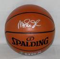 Magic Johnson Signed *Silver Official NBA Spalding Basketball - Beckett Auth