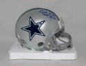 Bob Lilly Autographed *Blue Dallas Cowboys Mini Helmet W/ HOF- JSA W Auth